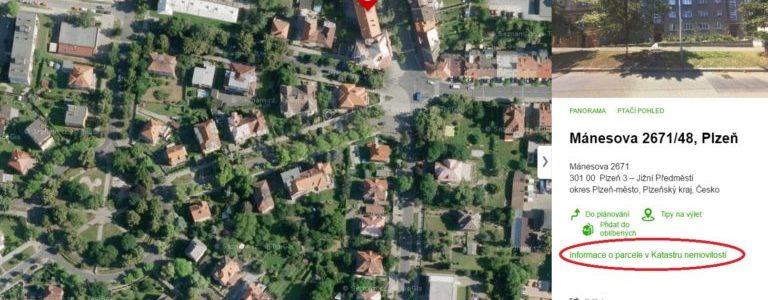 Využijte zajímavé služby: Katastr nemovitostí se propojil s Mapy.cz