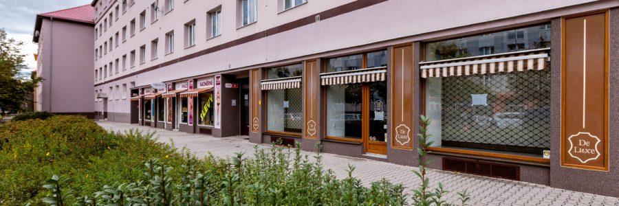 Pronájem obchodního prostoru na atraktivním místě o velikosti 123 m2, Plzeň -Slovany, ul. Částkova